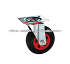 "3"" swivel caster wheels with red plastic core"