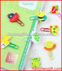 Different shapes pvc bookmark clips for paper