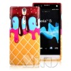 Customized phone case ice cream design for xperia s lt26i case
