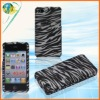 Black&White Zebra Skin Cover For Apple Iphone 4G 4S Snap-On Design Crystal Rubberized Hard Case