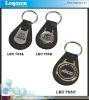 Round shape epoxy domed car leather keychain