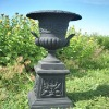 cast iron ornamental garden pots