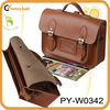 brown cow leather mens satchel bag