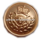 Custom gold military metal sewing button