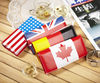 2012 fashion PU leather Four country flags wallet lady wallet