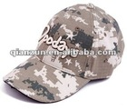 embroidery camouflage curved brim baseball cap