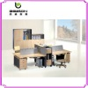 wooden office partition with mobile pendestal SP-005