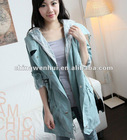 ladies' long style lovely wind coat