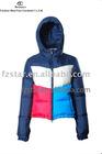 ladies' fashion hooded down jacket