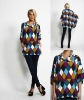 woman casual high fashion long pullover knit wear