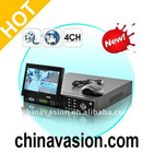 4 Channel H.264 DVR Security System with 7 Inch Flip-Out Screen