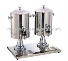 Stainless steel double milk dispenser