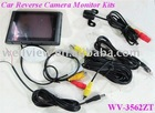 Car rear sensor camera kits with 3.5inch monitor and super mini camera
