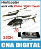 Phone / iPad / iPod / iTouch RC i-helicopter with Controlled Light, 3.0CH RC Helicopter (Black)