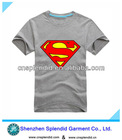 Custom grey cotton summer short sleeve newstyle superman t shirt