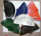 Flower Chinese silk bamboo fan