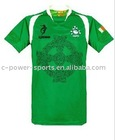 100% polyester fashion green rugby jerseys