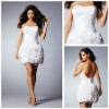MC1171 Strapless Sweetheart Flowers Beaded Lace Short Latest Cocktail Dress Designs