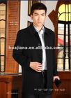 business men black winter coat /100% pure cashmere fabric