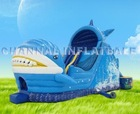 Whale water slides inflatable water slide