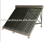 solar collector with copper heat pipe