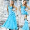 Wholesale price generous appliqued one shoulder blue mermaid prom dresses