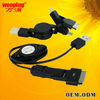 Best price 3 in 1 usb chager cable for iphone micro min usb