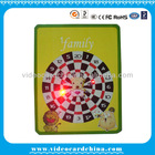 Christmas gift flash tin box with led light