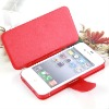 Factory Supply Creative Ultra Slim leather case for iphone4 -4Colors, No Hard Case