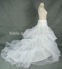 Hot Sale Long White Bone Hoop Tulle Wedding Petticoat