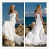 Wholesale spaghetti stap beach bridal dresses 2012