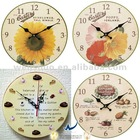 Decorative Flower Seeds Wall Clock