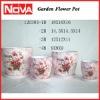 Pink or Purple Flower Pot Painting Color Pot