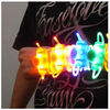 fiber optic flashing led armband