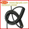 Black Retractable PU Curly Cord