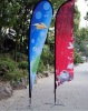 Indoor and outdoor feather flag
