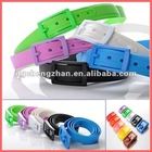 Candy fashion colorful silicone belt for women