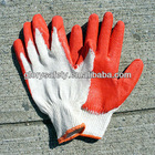 cheapest labor gloves usd 0.11 per pair red latex coated glove
