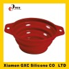 2012 red silicone collapsible bowl