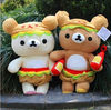Plush couple bear toys, soft stuffed bear