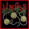 jingle design exquisite hot fix motif