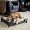 metal frame anti-rust waterproof cushion wicker pet bed