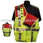 high visiblity reflective public safety vest with 5 point break away