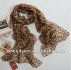 fashion design long pashmina chiffon leopard printed scarf