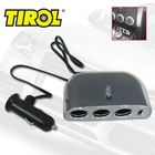 3 Ways DC 12 V Auto Cigarette Triple Sockets Splitter Adapter with 1 USB Charger 1000mA Suitable for Cellphone GPS iPod