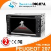 Sharing Digital Special DVD Player with GPS Tracker peugeot 207 (2005-2009)