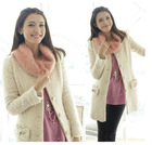 2012 woman fashion korean single breasted slim tweed coat