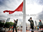Remote controlled flagpole