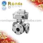 Double jacket thermal insulation three way valve