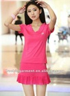 The summer 2012 women's tennis skirts short sleeve, sport suit motion skirt